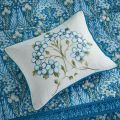 V&A Cushion with Blue Florals