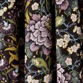 Peony Trail Midnight Lined Curtains Close
