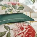 Perennial Peony Pillow Stack Leaf Green
