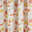 Poppy Garden Multi Curtains Close