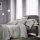 Tahra Silver Jacquard Bedding