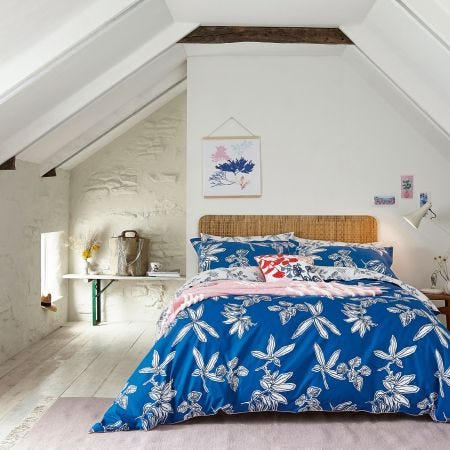 Bright Blue Floral Bedding by Joules