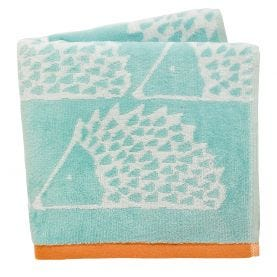 Scion Spike Hand Towels in Aqua