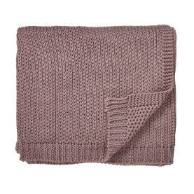 Allegro Mauve Knitted Throw