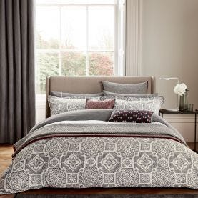 Amaya Ivory & Charcoal Grey Bedding