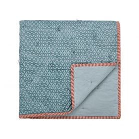 Harita Teal Quilted Throw.