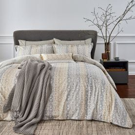 Satara Grey & Chartreuse Bedding