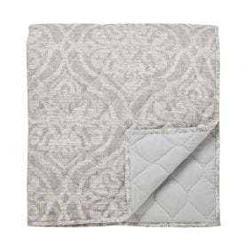 Sezan Quilted Throw, Silver