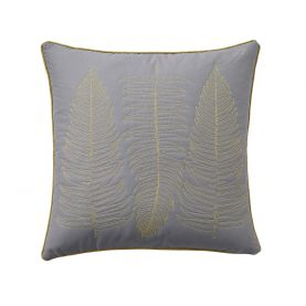 Ginkgo Lined Patchwork Cushion Front.