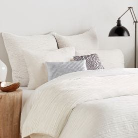 DKNY White Textured Bedding