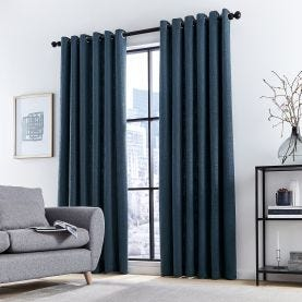 Madison Navy Lined Curtains