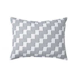 Step up Housewife Pillowcase, Black/White