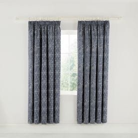 Ellinor Lined Curtains Ink Blue