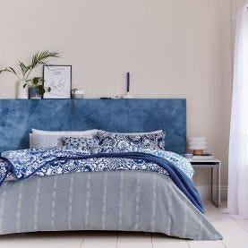 Chambray Blue Bedding.