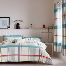 Klint Multicoloured Check Bedding