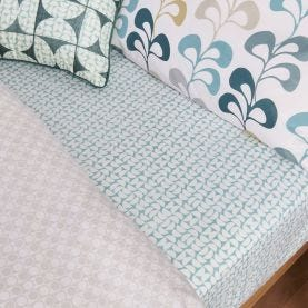 Liv/Tolka Fitted Sheets Teal