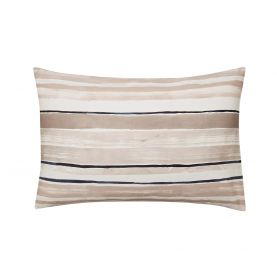 Linking Lines Pair of Housewife Pillowcases Glazed Stone