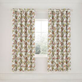 """April Lined Curtains 66"""" x 90"""", Spring Green"""