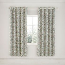 """Dottie Lined Curtains 66"""" x 72"""", Spring Green"""