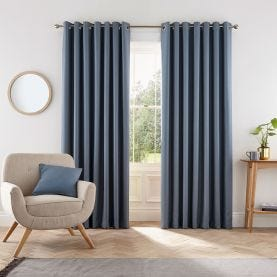 Eden Dark Blue Curtains