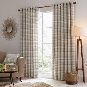 Harriet Lined Curtains Taupe