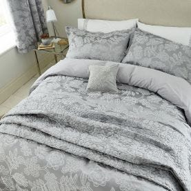 Letty Ash Silver Floral Bedding