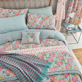 Mary Jane Pink & Blue Floral Bedding