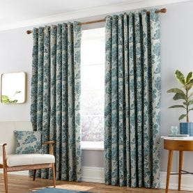 Paloma Duck Egg Blue Lined Curtains