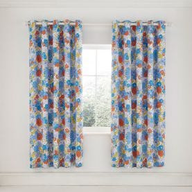 """Patsy Lined Curtains 66"""" x 72"""", Blue"""