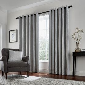 Roma Curtains, Silver