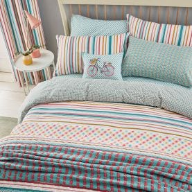 Trixie Duck Egg Blue & Pink Bedding