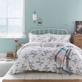 Swanton White Floral Bedding
