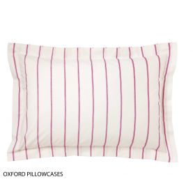 Pink & White Stripe Pillowcase