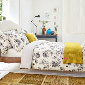 Cream Floral Bedding