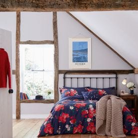 Beau Floral French Navy Bedding