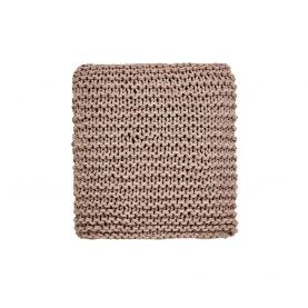 Beau Floral Dusky Pink Knitted Throw