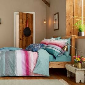 Cotswold Stripe Pink & Green Bedding