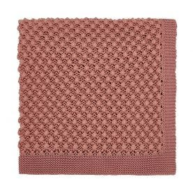 Cottage Check Pink Knitted Throw