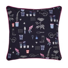 Navy & Pink Gardening Cushion