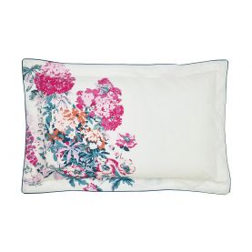 Cottage Garden Floral White Oxford Pillowcase