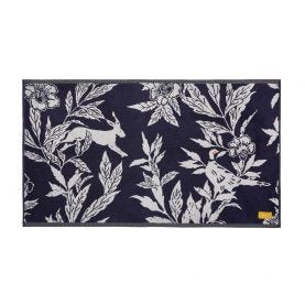 Country Critters Bath Mat Navy