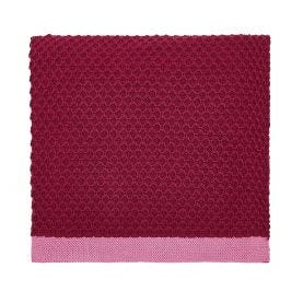 The Country Estate Knitted Throw, Raspberry