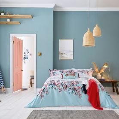 Falmouth Light Blue Floral Bedding