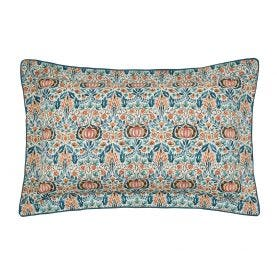 Little Chintz Teal Oxford Pillowcase Front