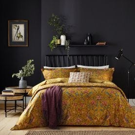 Saffron Yellow Traditional Style Bedding