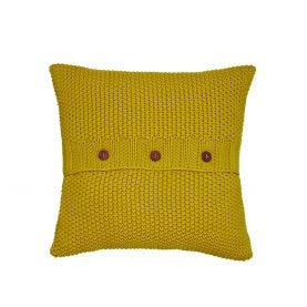 Yellow Moss Stitch Cushion by Joules