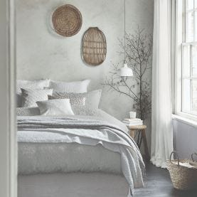 Nara Grey Textured Bedding
