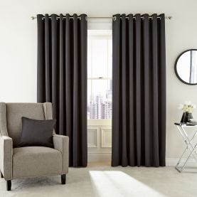 Barcelo Graphite Lined Curtains