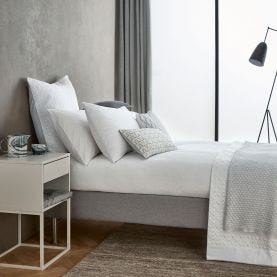 Blanca White Textured Bedding