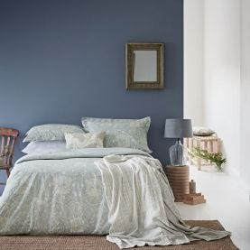 Pure Honeysuckle & Tulip Bedding in Grey Blue